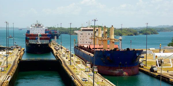 Picture of the Panama Canal expansion project